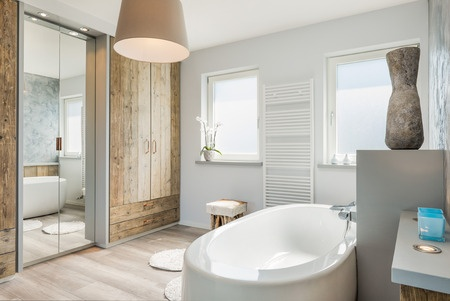 Soothing White Bathroom Design